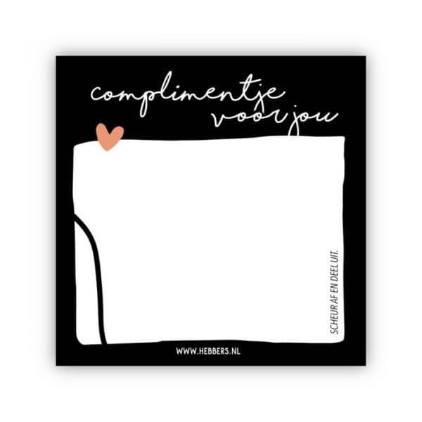 Complimentje voor jou