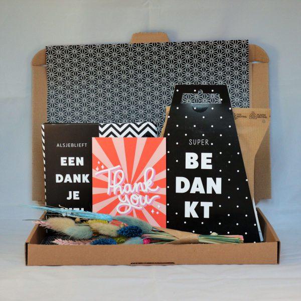 chocolade_kaart_koffie_droogbloemen_dankjewel_bedankt_thanks_brievenbuscadeau_giftsbygötts