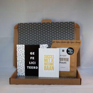 chocolade_koffie_kaart_nieuwebaan_succes_nieuwecollega_brievenbuscadeau_succes_giftsbygötts